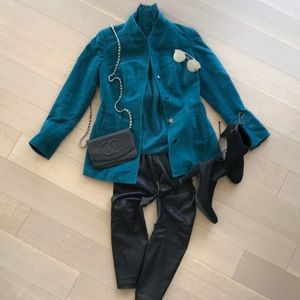Etcetera blazer jacket with cashmere turtleneck